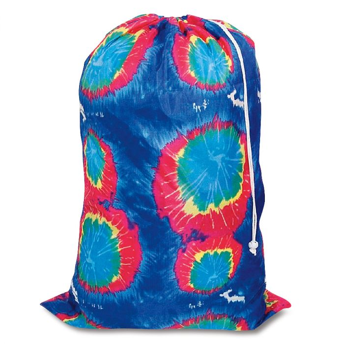 Tie-Dyed Blue Laundry Bag