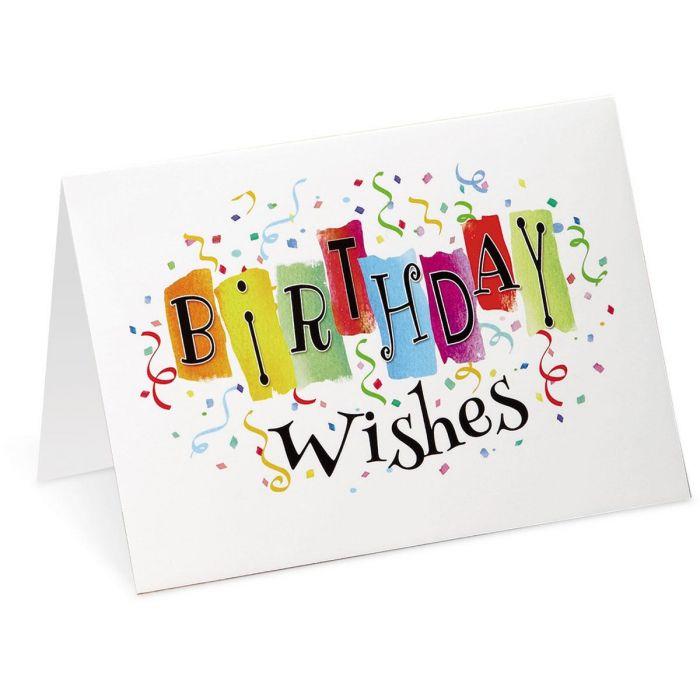 Big Birthday Wish Cards
