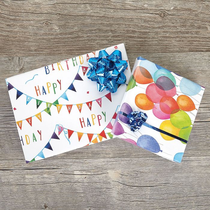Birthday Party Flat Gift Wrap