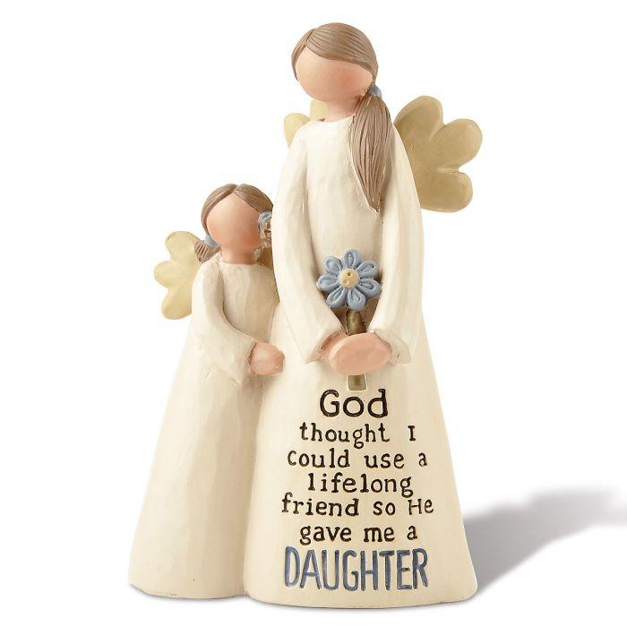 Mother & Daughter Angel Figurine