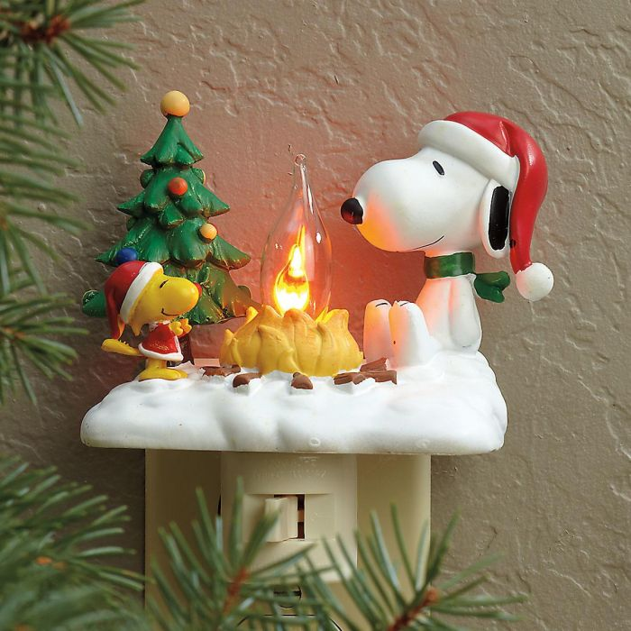 PEANUTS® Snoopy™ and Woodstock by Campfire Night Light