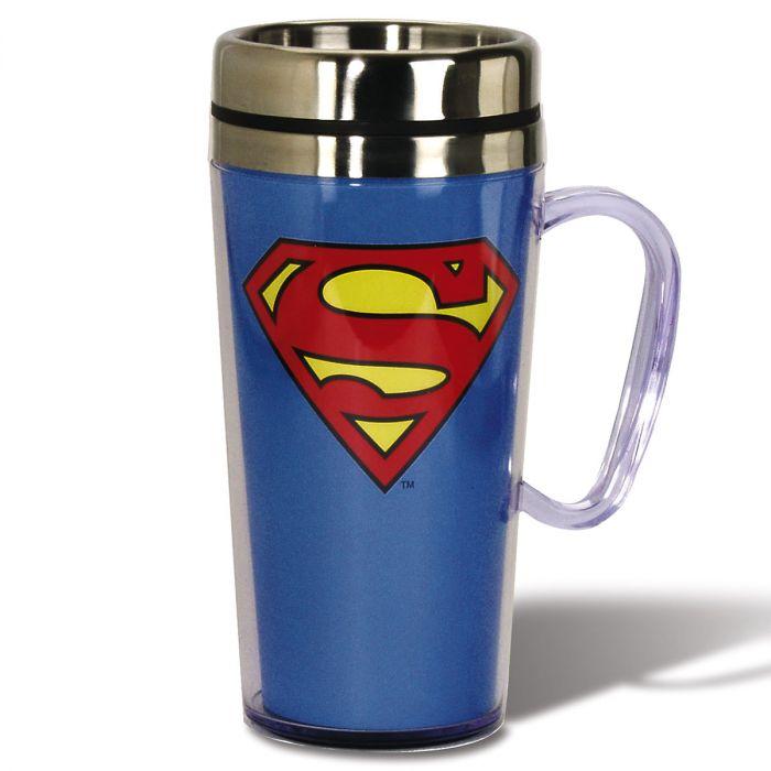 Superhero Logo Travel Mug - Superman