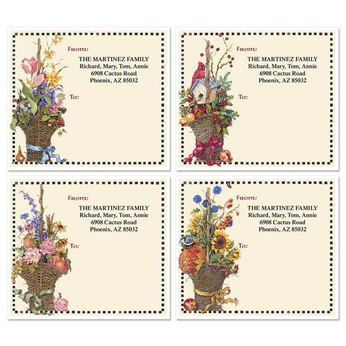 Sandi's Four Seasons Mailing Package Label  (4 Designs)