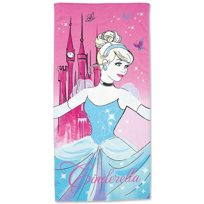 Cinderella Personalized Beach Towel
