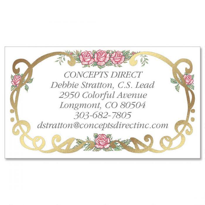 Rose Filigree Calling Card