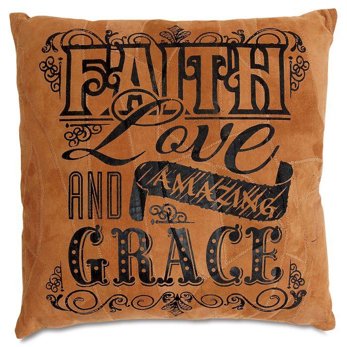 Faith, Love, and Amazing Grace Pew Cushion/Pillow