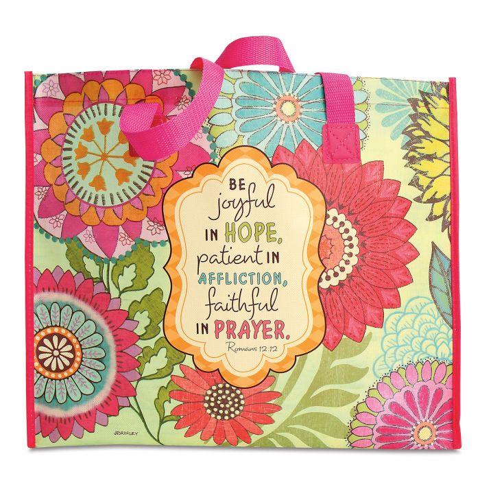 Joyful Flowers Shopping Tote Bag