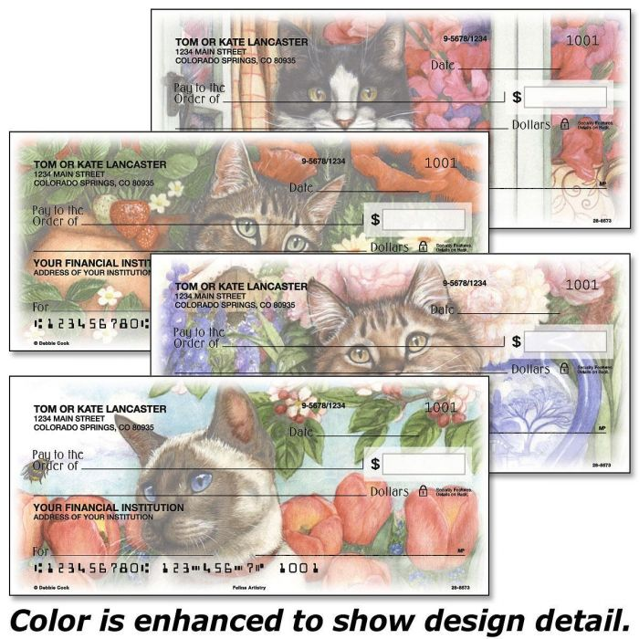 Feline Artistry Single Checks