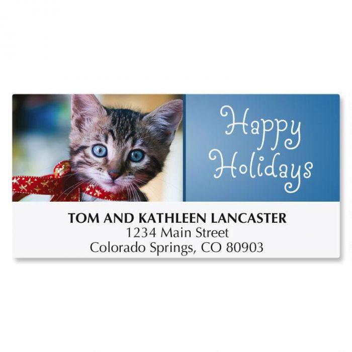 Christmas Kitten Christmas Address Labels