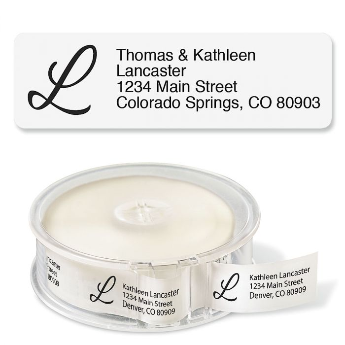 Clear with Initial Standard Rolled Address Labels