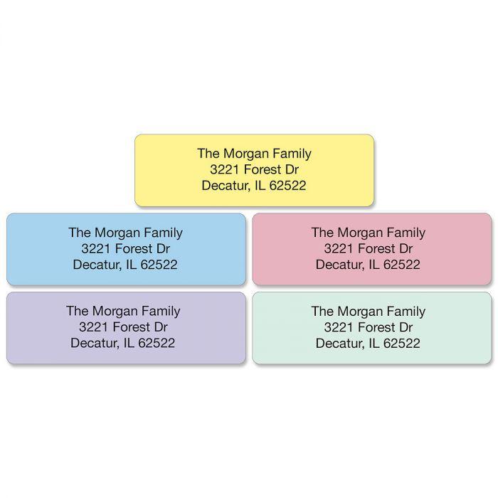 Pastel with Symbol Standard Rolled Address Labels