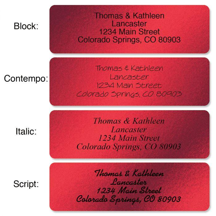 Red Foil with Symbol Standard Rolled Address Labels