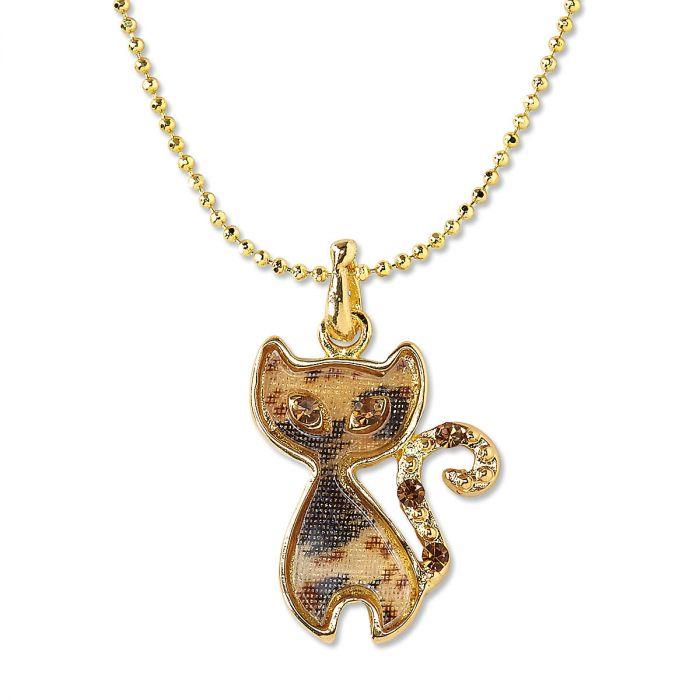 Calico Cat Necklace