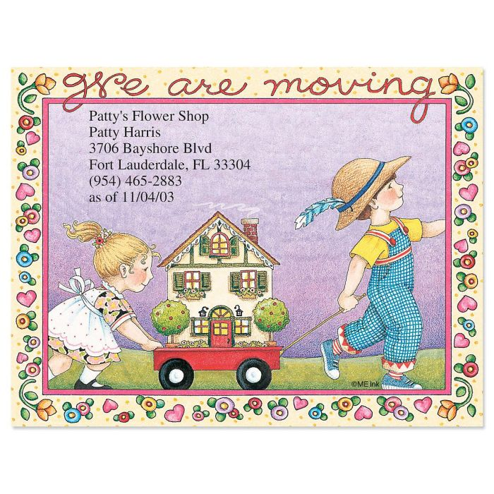 We Are Moving New Address Post Cards
