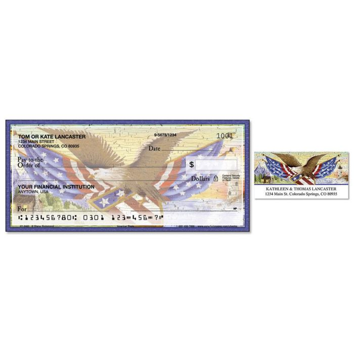 American Eagle Duplicate Checks With Matching Address Labels
