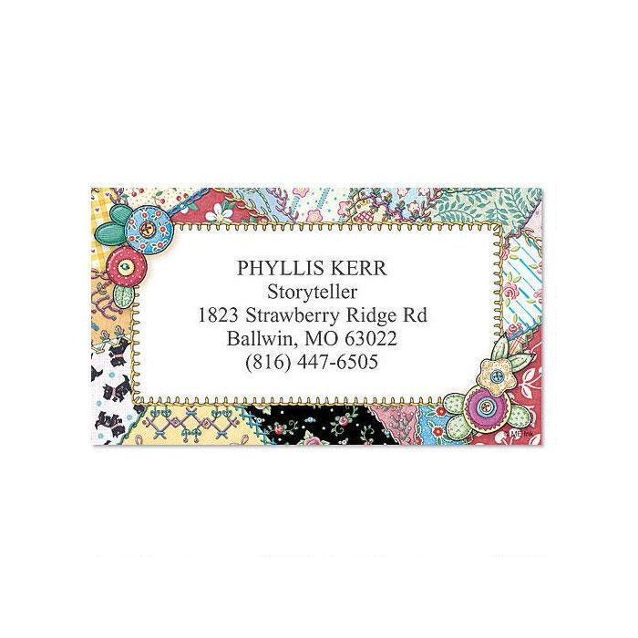 Crazy Quilt Calling Card
