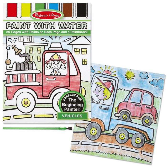 Vehicles Paint with Water Book  by Melissa & Doug®