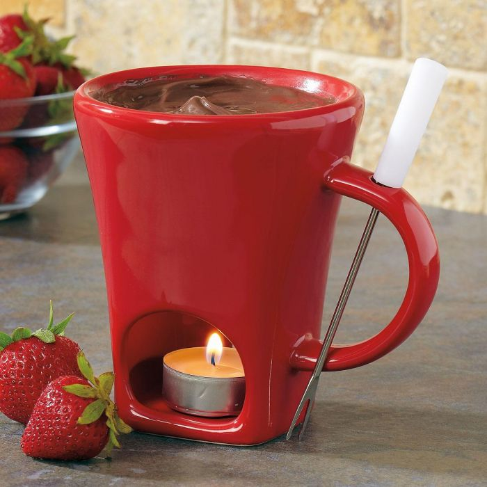 Red Fondue Tealight Mug by Current Catalog