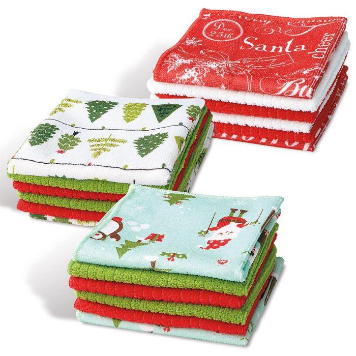 Holiday Microfiber Dishcloths