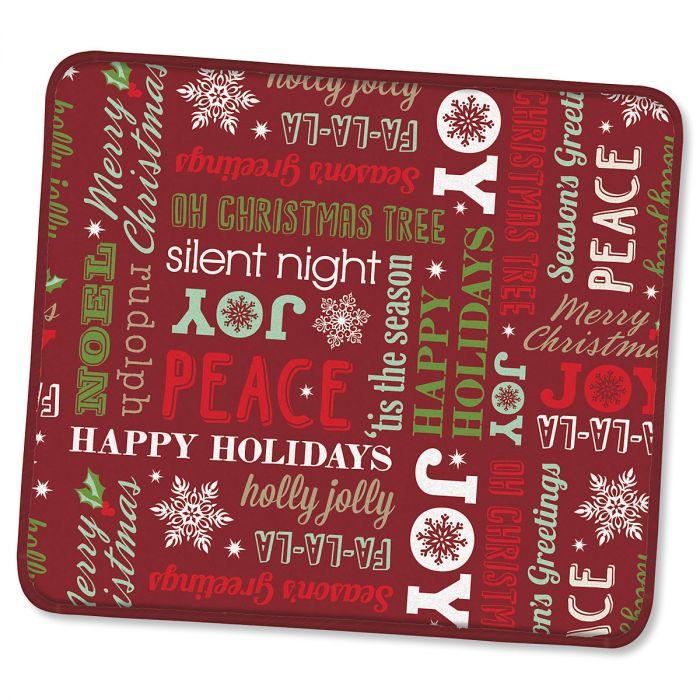 Holiday Greetings Microfiber Drying Mat