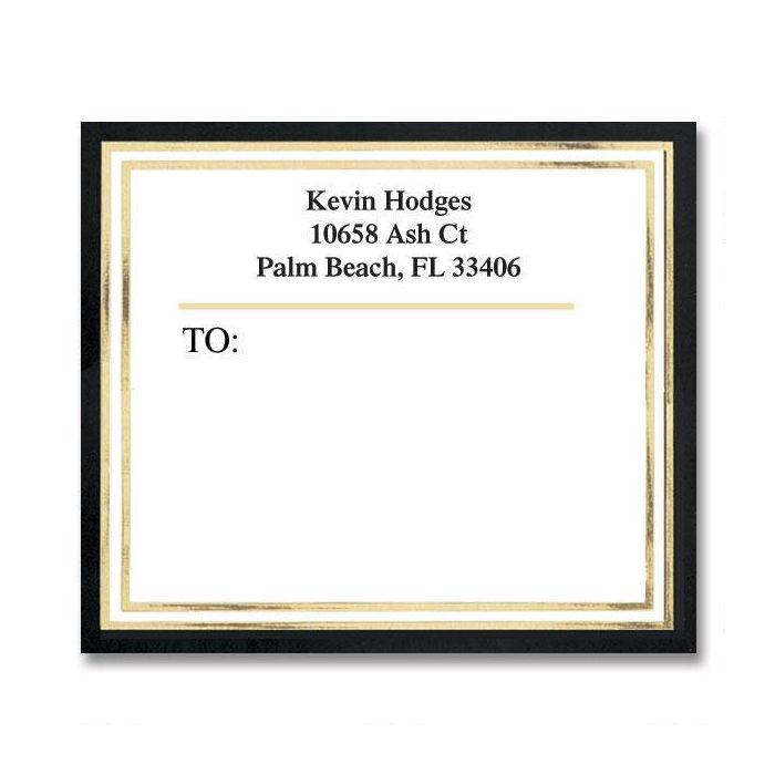 Black & Gold Foil Mailing Package Label