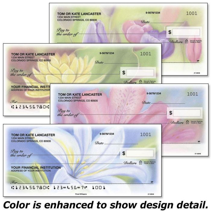 Floral Whispers Duplicate Checks
