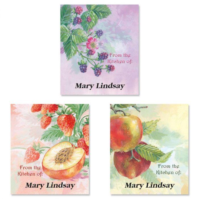 Fruit Impressions Canning Jar Labels  (3 Designs)