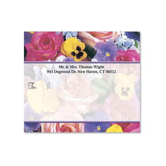 Beautiful Blossoms Mailing Package Label