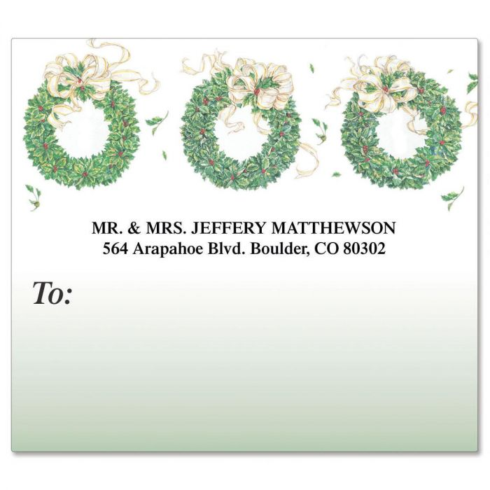 Wreath Mailing Package Label