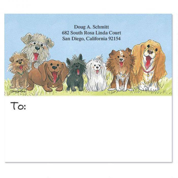Wags & Whiskers Mailing Package Label