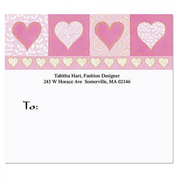 Fabulously Pink Mailing Package Label