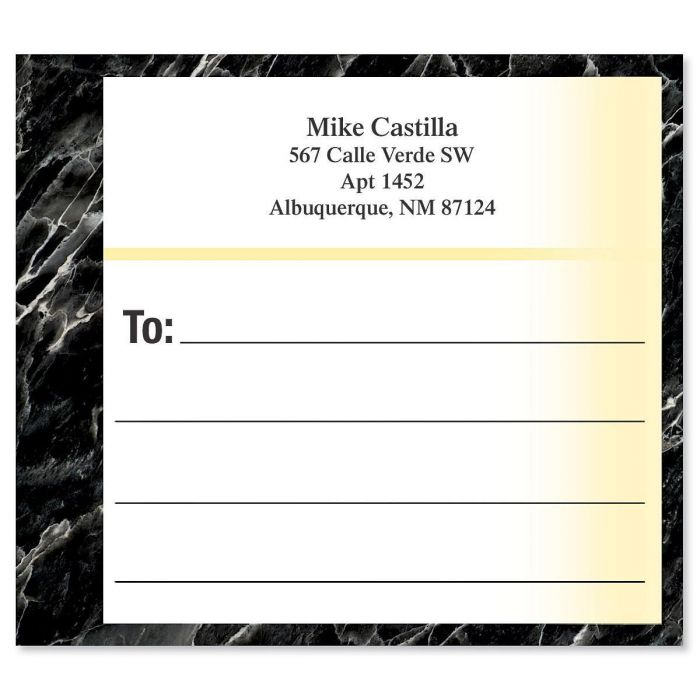 Black Onyx Mailing Package Label