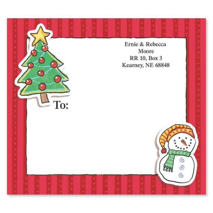 Doo Dads Holiday Mailing Package Label