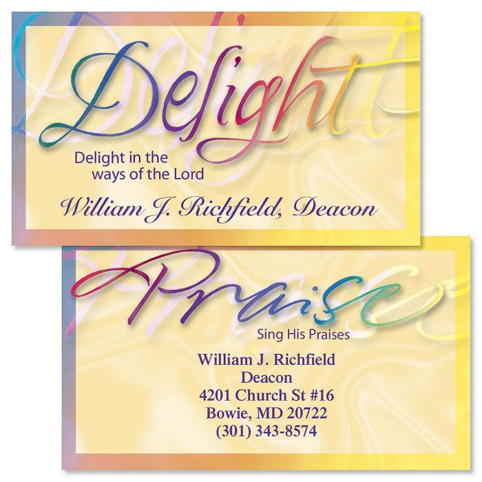 Faithful Words Double-Sided Business Cards