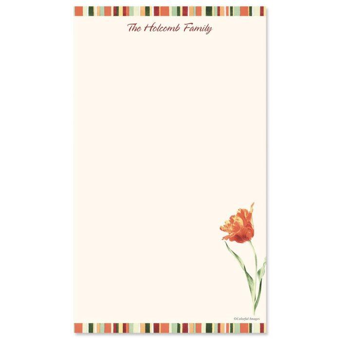 Elegant Tulips Custom Memo Pads