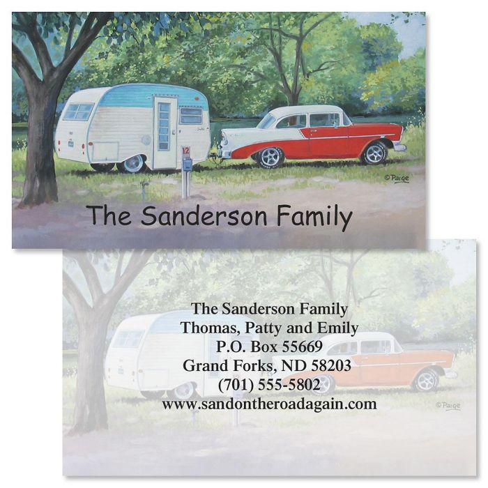 Travel Trailers Two-Sided Calling Card