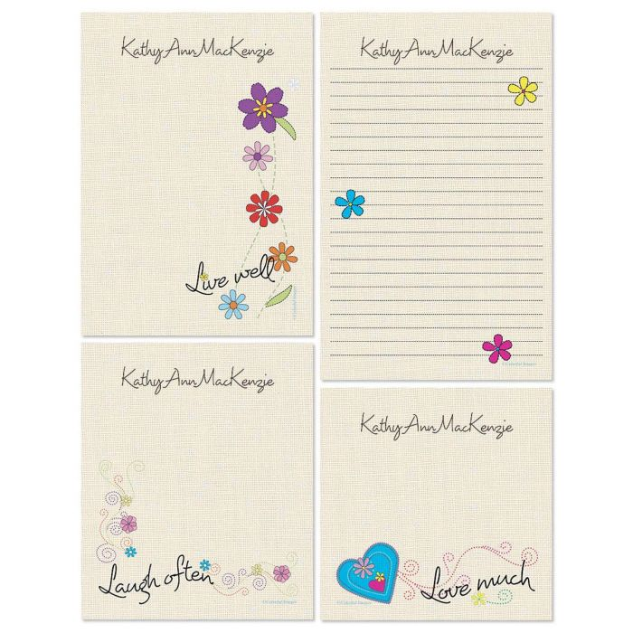 Pithy Sayings Personalized Stationery Memo Set