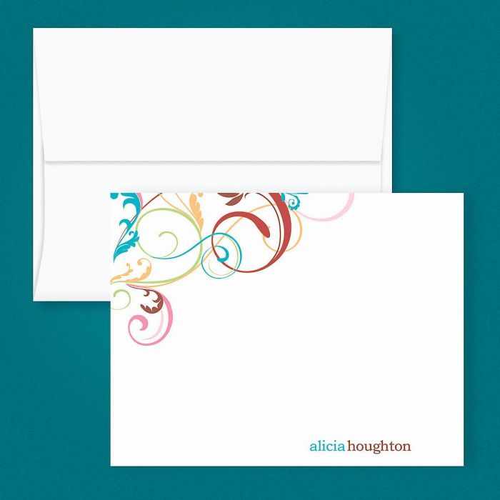 Fantasia Personalized Correspondence Cards