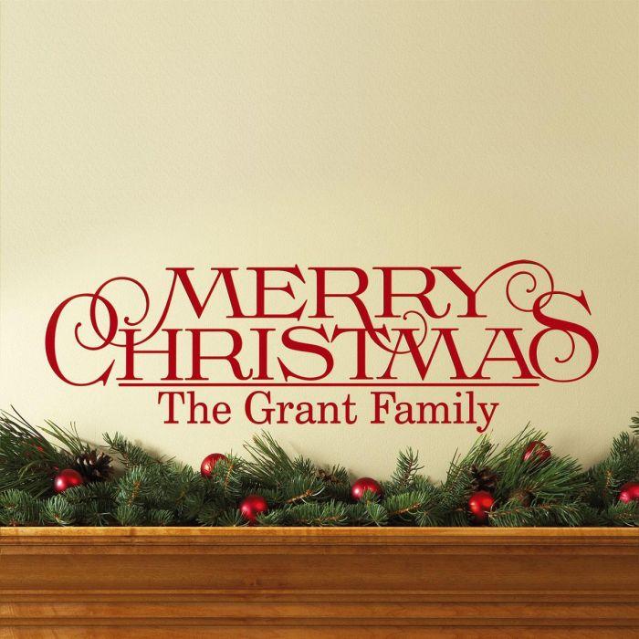 Merry Christmas Vinyl Wall Lettering