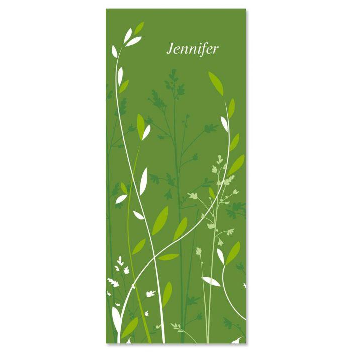Organic  Slimline Custom Note Cards