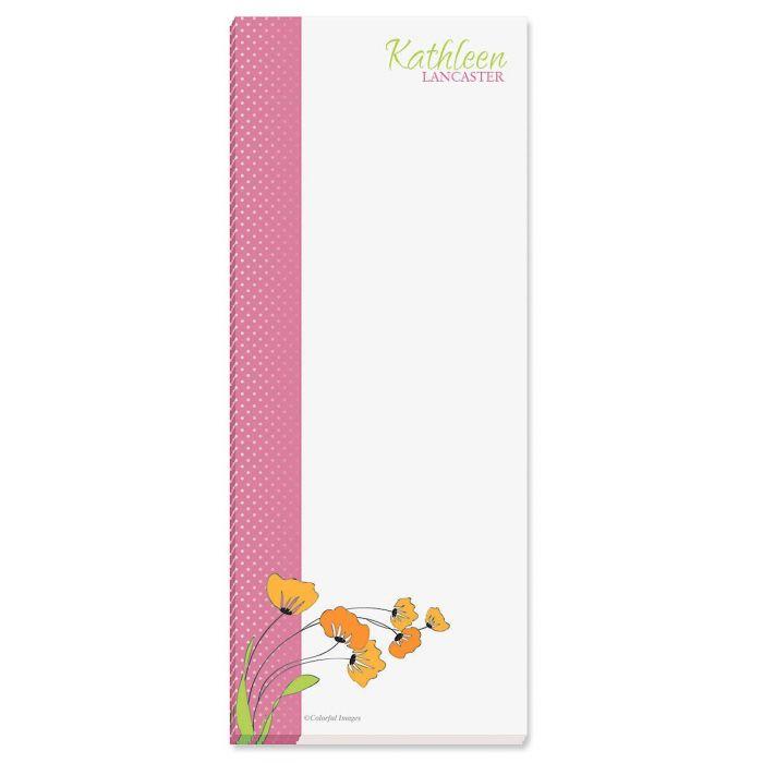 Wild Poppies Custom Memo Pads  (3 colors)