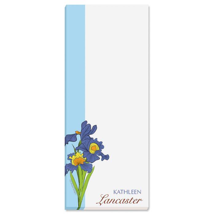 Iris Lined Memo Pads  (3 colors)