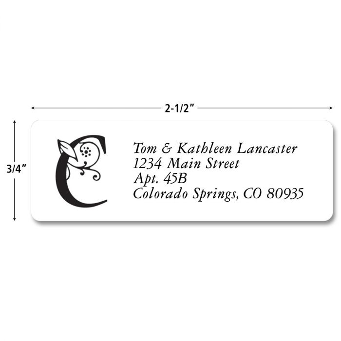 Formal Initial  Rolled Address Labels