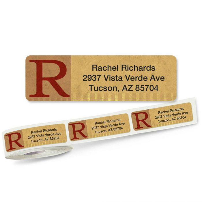 Qwerties Initial Rolled Address Labels