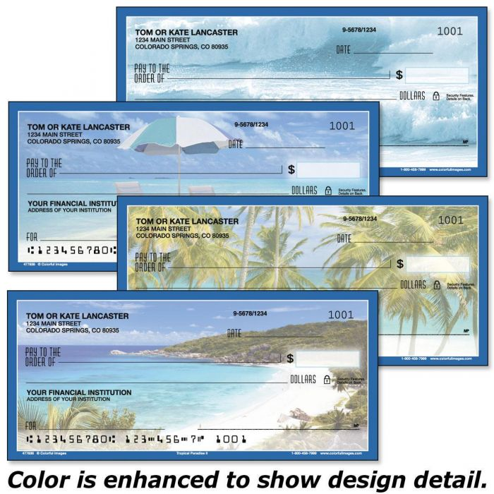 Tropical Paradise II Single Checks
