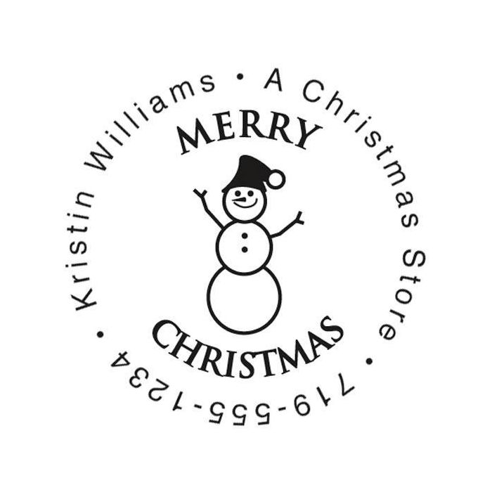 Snowman Family Christmas Round Stamper