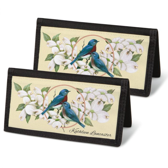Birds & Blossoms  Checkbook Covers