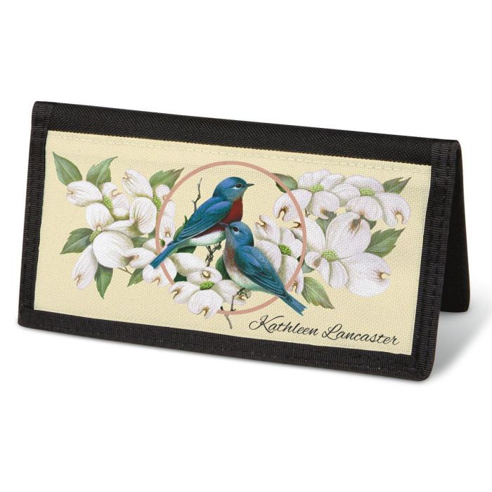 Birds & Blossoms  Checkbook Cover - Personalized