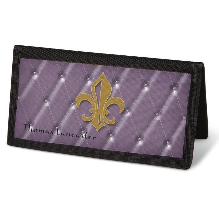 Bronze Fleur De Lis  Checkbook Cover - Personalized