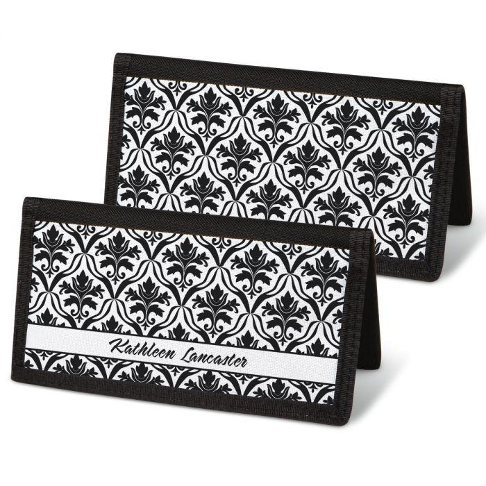 Elegant in Black  Checkbook Covers